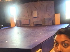 Sneak peek of our set!! I'm #terribleatselfies